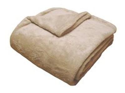Super soft deka Dadka světle hnědá 150x100 cm