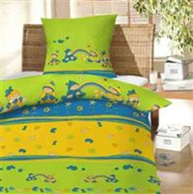 Povlečení bavlna do postýlky Děti a duha 90x130, 45x60 cm