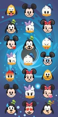 Osuška Disney emoji 70x140 cm