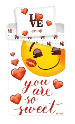 "Povlečení Emoji ""You are so sweet"""
