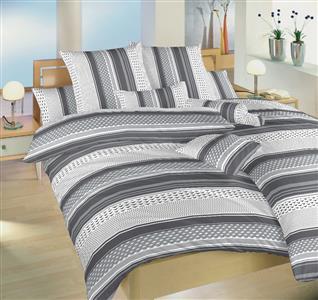 Povlečení bavlna Erik šedý 140x200, 70x90 cm II.jakost