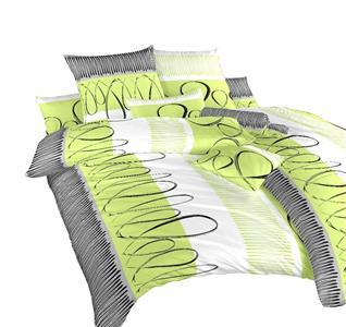 Povlečení bavlna Evelína kiwi 140x200, 70x90 cm II.jakost