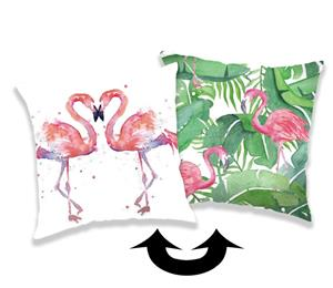 Povlak s flitry Flamingo 01 40x40 cm