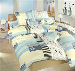 Povlečení bavlna Flér modrá 140x200, 70x90 cm
