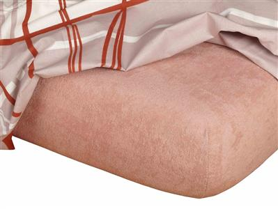 Froté prostěradlo béžová 120x220x15 cm