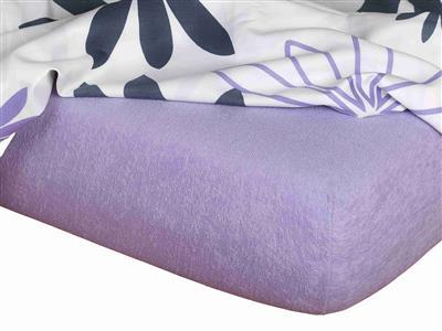 Froté prostěradlo fialová 90x200x15 cm