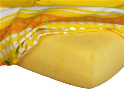 Froté prostěradlo tmavě žlutá 90x200x15 cm