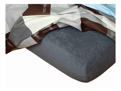 Froté prostěradlo 90x200x15 cm tmavě šedé II.jakost