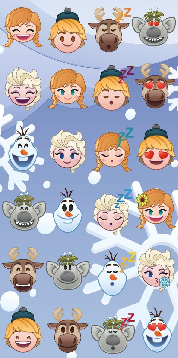 Osuška Frozen emoji 70x140 cm