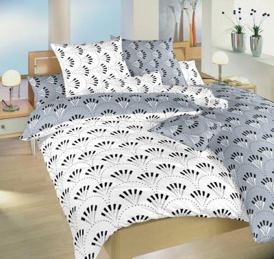 Povlečení bavlna Gabru bílý/šedý DUO 140x200, 70x90 cm