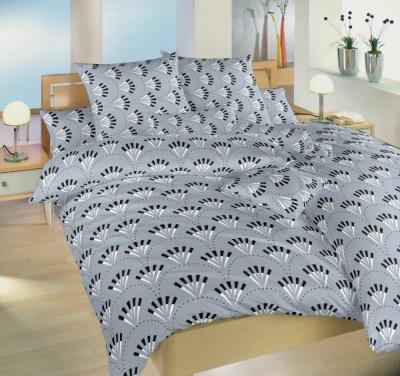Povlečení bavlna Gabru šedý 140x200, 70x90 cm