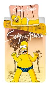 Povlečení Simpsons Homer beach 140x200, 70x90 cm