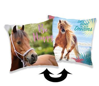 Polštářek s flitry Horse heart 01 40x40 cm