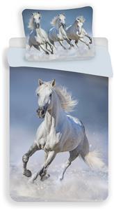 Povlečení fototisk Horses white 140x200, 70x90 cm