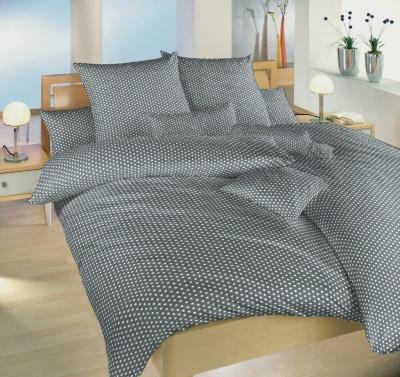 Povlečení bavlna Hvězdička bílá na šedém 140x200, 70x90 cm
