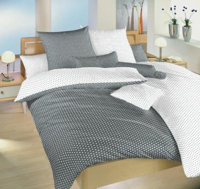 Povlečení bavlna Hvězdička bílá/šedá DUO 140x200, 70x90 cm