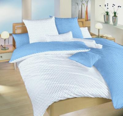 Povlečení bavlna Hvězdička bílá/světle modrá DUO 140x200, 70x90 cm