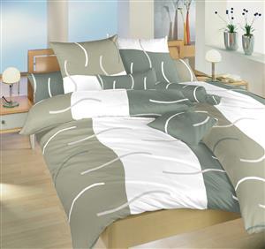 Povlečení satén Island šedý 140x220, 70x90 cm