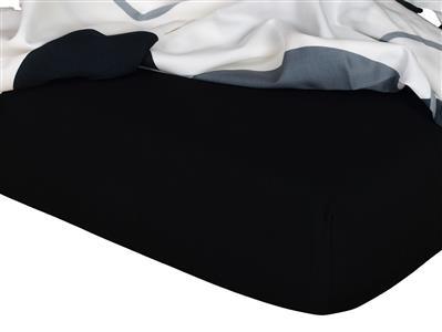 Jersey prostěradlo černá 180x200x18 cm