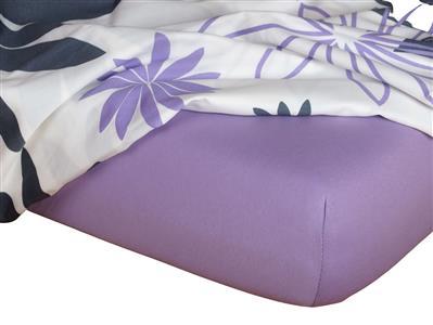 Jersey prostěradlo fialová 160x220x18 cm