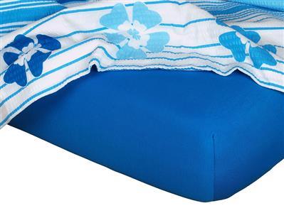 Jersey prostěradlo modř královská 200x220x18 cm