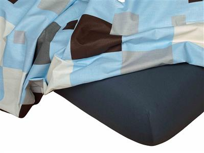 Jersey prostěradlo tmavě šedá 90x200x18 cm