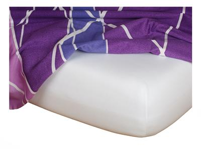Jersey prostěradlo bílá 90x200x18 cm II.jakost