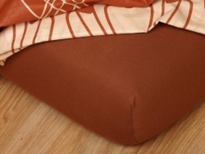 Jersey prostěradlo nugát 90x200x18 cm