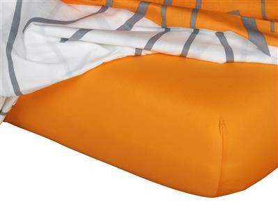 Jersey prostěradlo pomeranč 160x220x18 cm