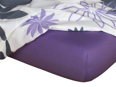 Jersey prostěradlo purpur 160x220x18 cm