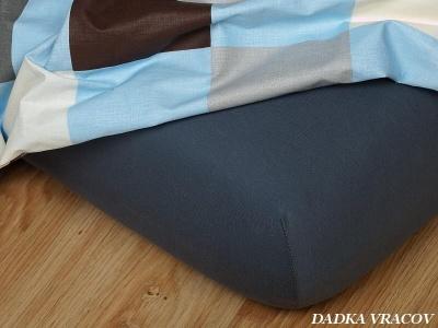 Jersey prostěradlo tmavě šedá 60x120 cm II.jakost