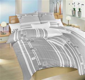 Povlečení bavlna Kostky šedé 140x200, 70x90 cm II.jakost