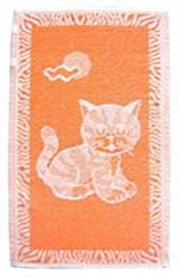 Dětský ručník Kotě oranžové 30x50 cm