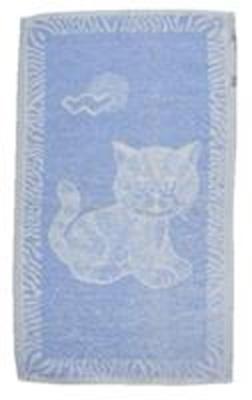 Dětský ručník Kotě světle modré 30x50 cm