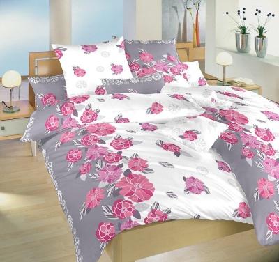 Povlečení bavlna Laura šedá 140x200, 70x90 cm II.jakost