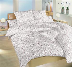 Povlečení bavlna Leknín bordó 220x220 cm povlak