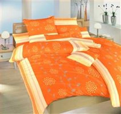 Povlečení krep Liána oranžová 240x220 cm povlak