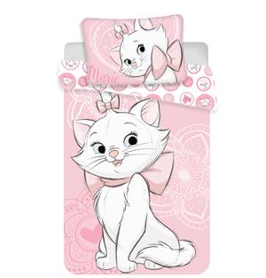 Povlečení Marie Cat pink heart 140x200, 70x90 cm