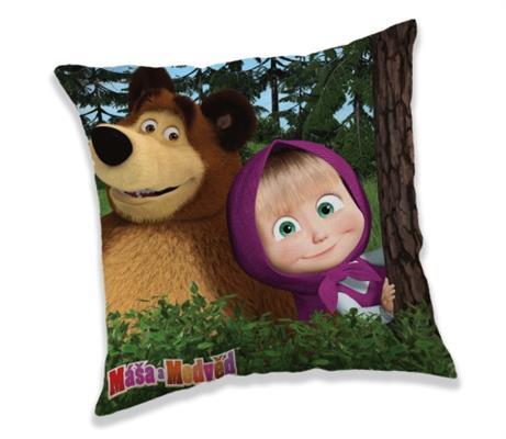 Povlak na polštářek Máša a Medvěd in forest 40x40 cm