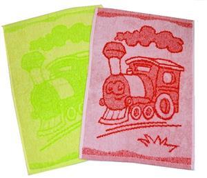 Dětský ručník Train green 30x50 cm