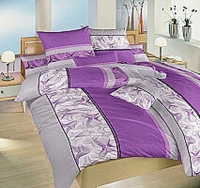 Povlečení krep Medúza fialová 140x220 cm povlak