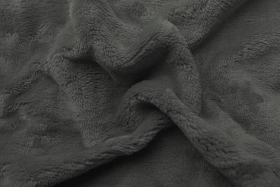 Prostěradlo mikroflanel tmavě šedá 180x200x20 cm