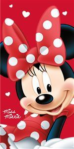 Osuška Minnie Big Red 70x140 cm