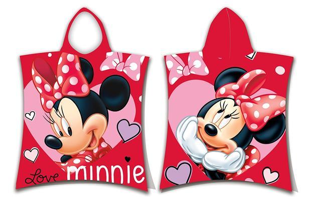 Pončo Minnie love 50x115 cm