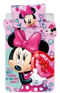 Disney povlečení do postýlky Minnie pink baby 100x135, 40x60 cm