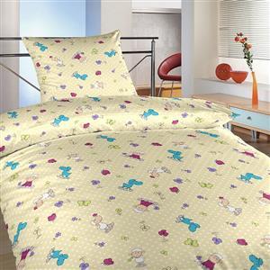 Povlečení bavlna Ovečky malé fialové 140x200, 70x90 cm