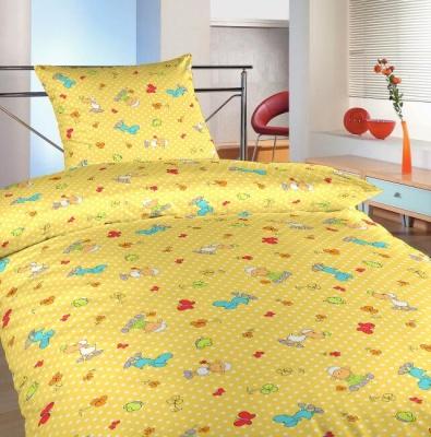Povlečení bavlna Ovečky malé žluté 140x200, 70x90 cm
