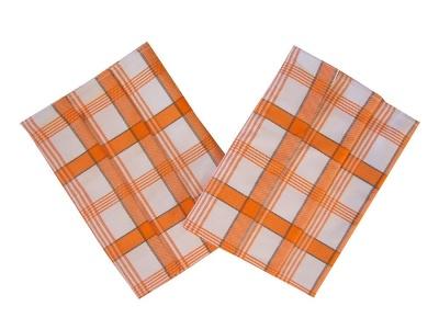 Utěrka Extra savá 50x70 Káro oranžové 3 ks