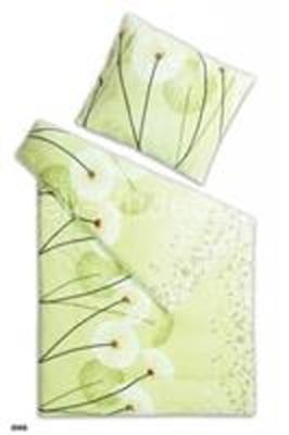 Povlečení mikroflanel Pampeliška pistácie 140x200, 70x90 cm
