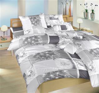 Povlečení bavlna Pampelišky 3D šedé 240x200, 2x70x90 cm